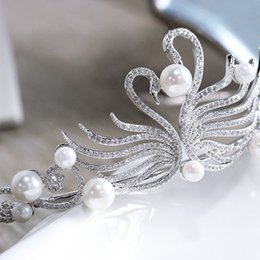 Real Crystal Crowns Tiaras Australia - 2018 Gorgeous Sparkling Silver Crystal Pearl Wedding Crown Headband High Quality Bridal Tiara Party Show Pageant Hair Accessories Real Photo