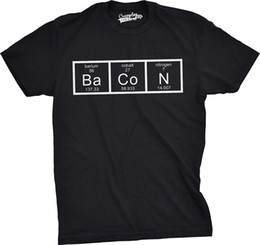 science shirts NZ - Mens The Chemistry of Bacon T Shirt Funny Brunch Periodic Table Science Tee Hip Hop Novelty T-Shirts Brand Clothing Top Tee