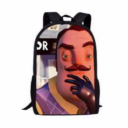 ae0cc9eabbf2 Hello Neighbor School Bags Boys Girls Backpacks School Supplies Schoolbag  Pencil Box Cases For Boy Gift Kids Love HelloNeighbor