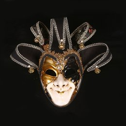 Jester Jolly Masks Australia - Venice Mask Jester Jolly Costume Party Masquerade Venetian Carnival Dionysia Halloween Christmas Classic Italia Mask Full Face