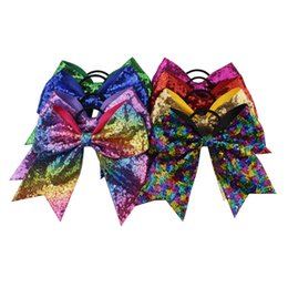 Glitter Bling Baby Australia - Baby Sequin hair ring Headbands Fashion Girls Glitter Bows hairbands Bling kids Rubber band sequins Hair Accessories TO931