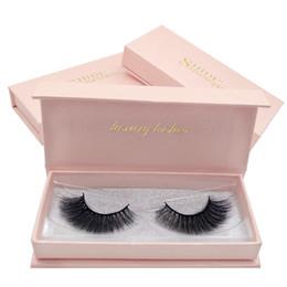 Top False Eyelashes NZ - 2 pairs box False Eyelashes 3D Mink Lashes Pink Box Thick Makeup Eyelashes For Eyelash Extension Top Quality