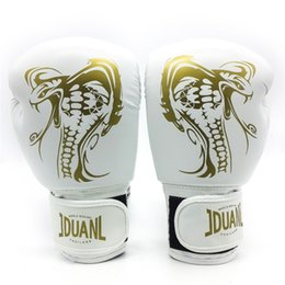 Quality Gear Australia - 10oz Dragon Boxing Gloves Muay Thai High Quality PU Fighting Wearable Breathable for Training Adults Protective Gear
