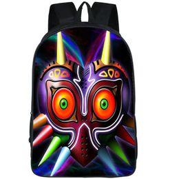 Discount zelda mask - Majora mask backpack Legend of Zelda link day pack Game print school bag Leisure packsack Quality rucksack Sport schoolb