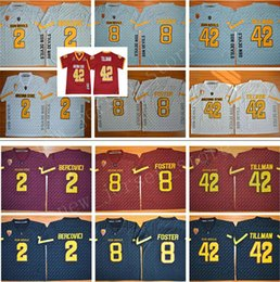 foster jerseys NZ - NCAA Arizona State Sun Devils 42 Pat Tillman Jersey Men Red Black Gray 2 Mike Bercovici 8 DJ Foster College Football Jerseys Stitched Retro