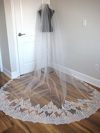 Discount long beautiful veils - Sequin Custom Made One Layer Veil For Bride Beautiful Hair Accessories 3 Meters Long Wedding Veils