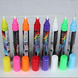 Pen Boards UK - Freen Shipping 8pcs 8 Color Highlighter Fluorescent Liquid Chalk Marker Neon Pen For LED Writing Board 4.5MM