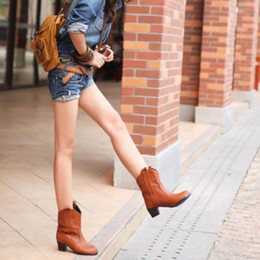 2216c322b4d4 shoes Women s Winter High Heel Ankle Leather Boots Female Snow Boot Thick Ladies  Casual Shoes Woman Footwear botines mujer 2018