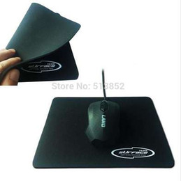 black computer game UK - Mouse Pad PC Notebook Descktop Computer Classic 2.5mm Thickness Natural Rubber Cloth Home Office Game 18*22cm Black Color