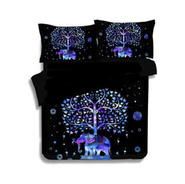China Luxury Indian Style Bedding Elephant Mandala Bedding Set 2 3pc Printed Duvet Cover Linens Pillowcase Duvet Cover Bedspreads supplier blue animal print bedding suppliers