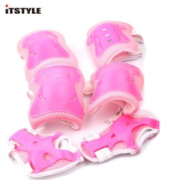wrist skate 2019 - 6 in 1 Skating Cycling Roller Skating Protection Kids Knee Elbow Wrist Protective knee Pads Sport Protective Gear cheap