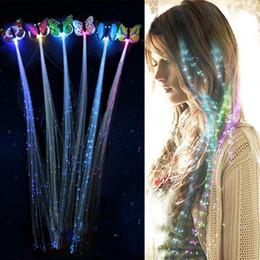$enCountryForm.capitalKeyWord Australia - LED Flashing Hair Braid Glowing Luminescent Hairpin Novetly Hair Ornament Girls Led Toys New Year Party Christmas Gift