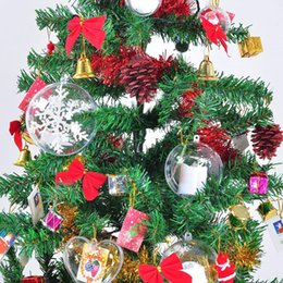x10 Pieces Hearts Christmas Decorations Bundle Clear Bauble Empty Fillable