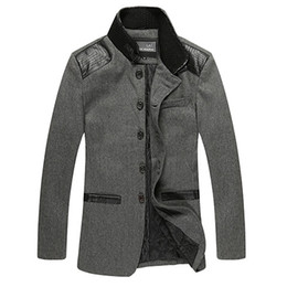 Neue 2018 Herbst Winter Männer Windjacke Mann Wolle Trenchcoat Männer Verdickung woolen Kaschmirmantel Oberbekleidung freies Verschiffen