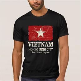 Vietnam White NZ - Customized Latest Letter Vietnam Flag Vintage Look T Shirt Men Trend Summer T-Shirt Streetwear Cotton Tee Shirt Man Cheap Sale