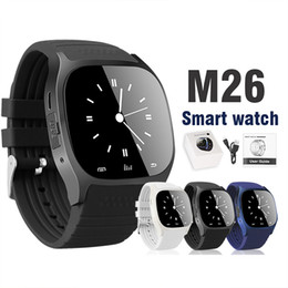 Bluetooth smart watches m26 online shopping - Bluetooth Smart Watch M26 Wrist Watch for Android Smart Watch Dial Phone For Samsung S8 Android System in Retail Package