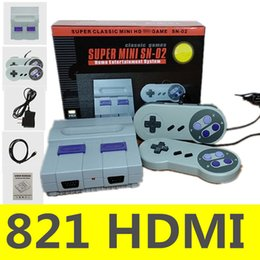 NES 821 HDMI Output TV Video Games Console for Child Kids SNES Games Consoles SN-02 With Retail Box on Sale
