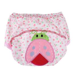 edbae728b1862 Pañales reutilizables de tela 1pcs pañales de bebé lindos pañales lavables  bebés niños pantalones de entrenamiento de algodón de bebé bragas pañales  ...