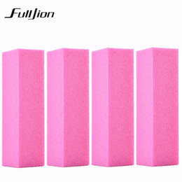 Discount diy nail file - Fulljion 4pcs lot Pro Nail Buffer File Pink Sponge DIY Nail File Buffering Polishing Manicure Tool Art Buffer drop shipp