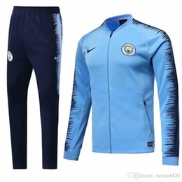 c0875999f New 18 19 season Manchester City jacket Sportswear Suit training suit soccer  jersey AGUERO STERLING Man City tracksuits free shipping