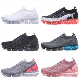 cheap sale athletic shoes 2018 - Hot Sale Vapormax 2.0 Mens Womens Running Shoes Cheap 2018 Woven Surface Sneakers Breathable Athletic Cushion Sport Sock