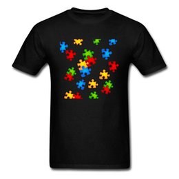 $enCountryForm.capitalKeyWord UK - No Fade Men T Shirt 2018 Colorful Puzzle Pieces Print Male Black Tee Shirt Novelty Simple Design Teens Tops Wholesale