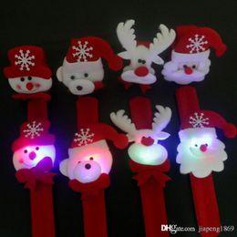 $enCountryForm.capitalKeyWord NZ - 1x Creative Santa Claus childrens flash glow luminous wrist band Christmas New Year party gift toys Party supplies Free shipping