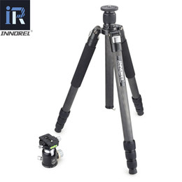heavy duty tripods UK - wholesale RT85C 25KG bear carbon fiber tripod for digital DSLR camera heavy duty Monopod Professional double panoramic ball head