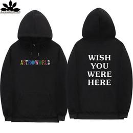 Vente en gros Travis Scott Astroworld SOUHAITEZ-VOUS ÊTRE ICI sweats à capuche streetwear Homme et femme Pull à capuche