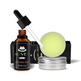 Venta al por mayor de ALIVER Bálsamo de cera bálsamo para el aceite de barba orgánico natural Acondicionador sin enjuague para hidratación suave Barba Cuidado de la salud