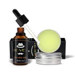 Toptan satış ALIVER Doğal Organik Sakal Yağı Sakal Balmumu Balsamı Saç Ürünleri için Sakinleştirici Saç Kremi Yumuşak Nemlendirir Sakal Sağlık