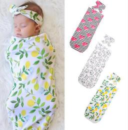 sleep sack cotton 2019 - Newborn Baby Sleeping Bags hairband Set INS Animals Print Swaddling Blankets Toddler Winter Wraps Infant Nursery Bedding