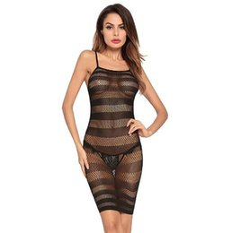 ec27abda6dd 2018 Europe and the United States explosion ladies sexy tight sexy uniforms  transparent straps one-piece dress Women s Sexy Lingerie