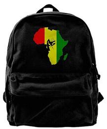 laptop travel power 2019 - AFRICA Power Rasta Reggae Fashion Canvas Shoulder Backpack For Men & Women Teens College Travel Daypack Knapsack Laptop