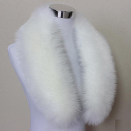 Fox Fur Scarfs NZ - Hot Fashion Unisex Faux Fox Fur Collar Scarf Shawl Neck Men Women Wrap Stole Scarves Faux Raccoon Fur Winter Collar