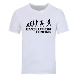 $enCountryForm.capitalKeyWord Australia - New Summer Fashion Evolution Of Fencing Funny short sleeve T-Shirt Birthday Gift More Size and Colors Men casual cotton Tops tees DIY-0793D