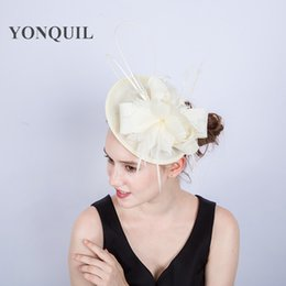 Multiple color Imitation Sinamay Fascinator Hat Women Feather Headwear  Ladies red Headband for Kentucky Derby Cocktail Wedding Party SYF201 9abc7db2a968