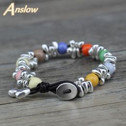 Discount ladies fashion bracelet design - Anslow New Design Korean Sweet Candy Style Fashion Jewelry Friendship Couple Female Lady Bracelets Christmas Gift FLOW07