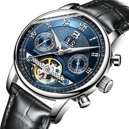 Binger Men Mechanical Watches Australia - Switzerland BINGER watches men luxury brand multiple functions water resistant Mechanical Wristwatches B-8603M-6
