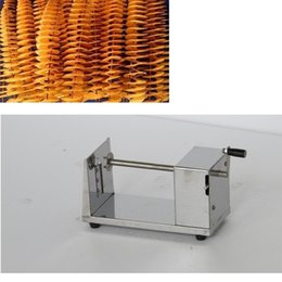 tornado fries cutter Australia - Commercial Manual Potato Twister Cutter By Hand Type Tornado Potato Slicer Spiral French Fries Chips Maker Machine