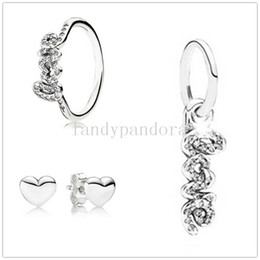 9fc1fabf4 Authentic Pandora Earring Charms Australia - Authentic 925 Sterling Silver  Charm Bead & Ring & Earrings