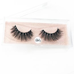 f5fbb9cb55f 3D Mink false eyelashes cruelty free natural Lashes volume Real Mink Lashes  Handmade Crossing Thick Lashes G803