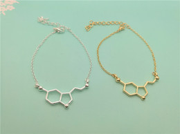 Wholesale chemical formulas for sale - Group buy geometric molecular pendant chain bracelet molecular structure bracelet chemical formula HT bracelet polygon hexagonal nurse jewelry