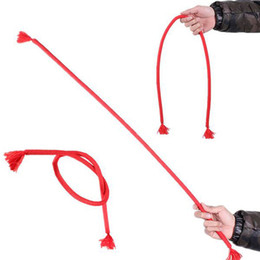 Stage trick magic propS online shopping - Magic Props Random color Stiff Rope Close Up Street Magic Trick Kids Party Show Stage Soft Tricky Bend party festival magic