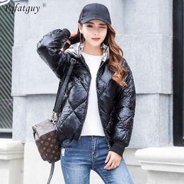 $enCountryForm.capitalKeyWord NZ - 2018 Winter Women Bright Black Gold Silver Metal Loose Parkas Coats Short Down Cotton Padded Student Jackets Chaqueta Feminino
