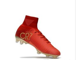 126b7bcdee1d 2017 High Quality Mercurial Superfly V FG AG Red Gold Classic CR7 Ronaldo  Kids Youth Football Shoes Soccer Cleats Mens Soccer Shoes 35-45