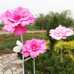 pink gerbera flower Australia - Large Simulation Chrysanthemum Large Gerbera Artificial Flower Continental Flower Wall For Wedding Window Decoration Shooting Props