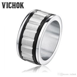 $enCountryForm.capitalKeyWord Canada - Free Shipping 11mm Wide Ring Gear Partten 316L Stainless Steel rings for women men wholesale anel masculino with free box VICHOK