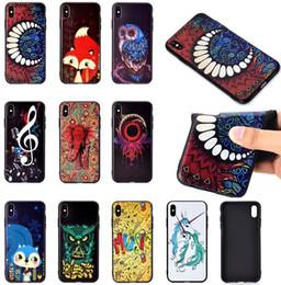 $enCountryForm.capitalKeyWord NZ - 3D Relief Cartoon Soft TPU Case For Iphone XR XS MAX X 10 8 7 Plus 6 5 SE 5S Elephant Fox Music Owl Unicorn Dreamcatcher Flower Black Cover