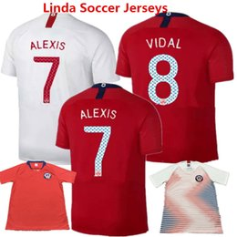 6d3a29434 Football Clothes Chile 2018 Soccer Jersey SANCHEZ VALDIVIA MEDEL VIDAL Home  Red camisetas de futbol ALEXIS America Shirts World Cup Uniform